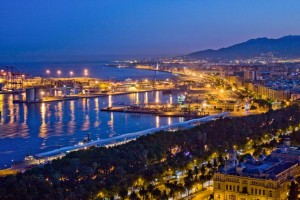 Malaga by night
